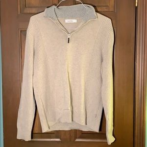 Men's Calvin Klein 1/4 zip collared sweater